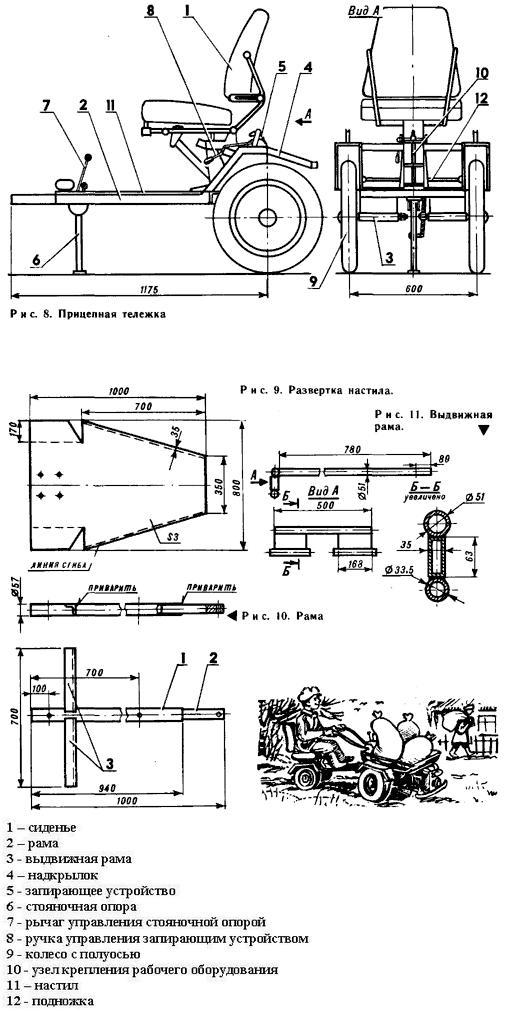 Адаптер для мотоблока своими руками и чертежи